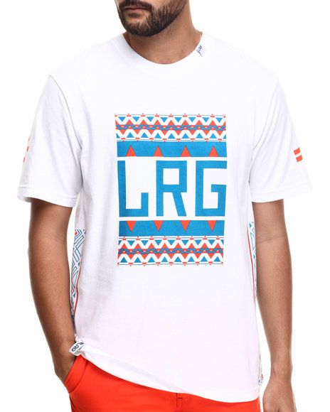 LRG - Men White Pattern Hunter Block Up T-Shirt