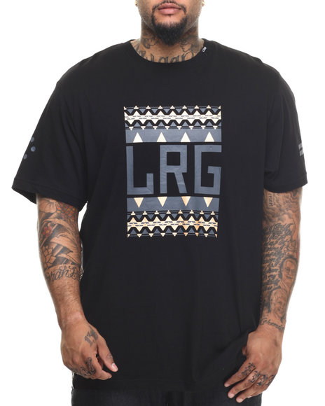 LRG - Men Black Pattern Hunter Block Up T-Shirt (B & T)