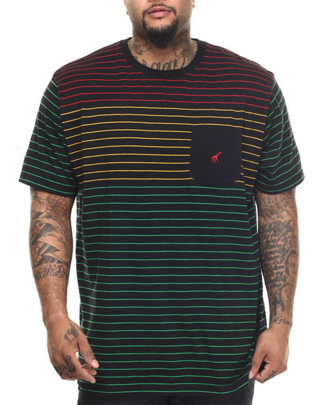 LRG - Men Black Rc Stripe T-Shirt (B & T)