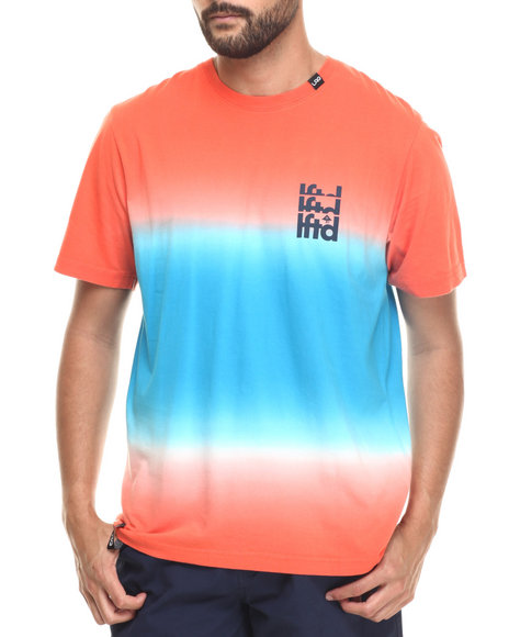 Lrg - Men Orange L Dip Dye T-Shirt - $23.99