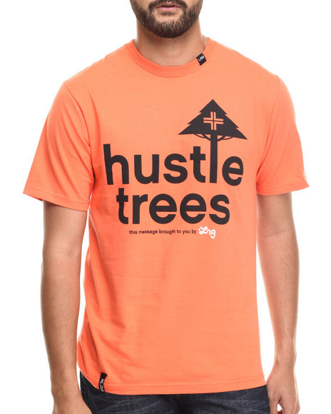 LRG - Men Orange Rc Hustle Trees T-Shirt