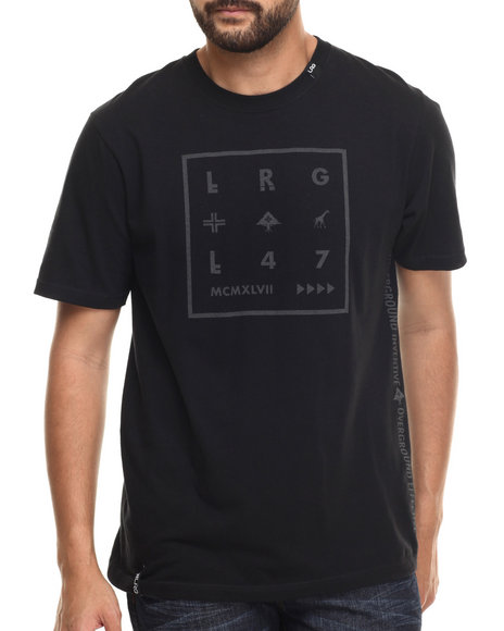 LRG - Men Black Sudden Death Reflective T-Shirt