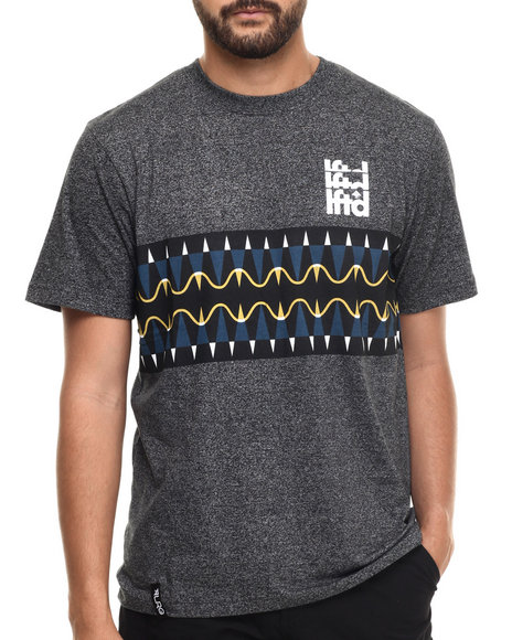 LRG - Men Charcoal, Black Kore T-Shirt