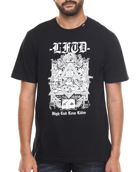 LRG - Men Black Masonic Black Light T-Shirt