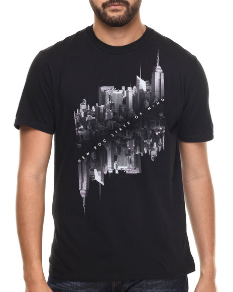 Rocawear - Men Black City Of Gods Tee