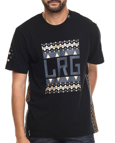 LRG - Men Black Pattern Hunter Block Up T-Shirt