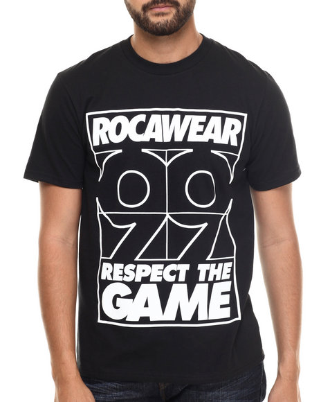 Rocawear - Men Black Respect The Game Tee - $9.99