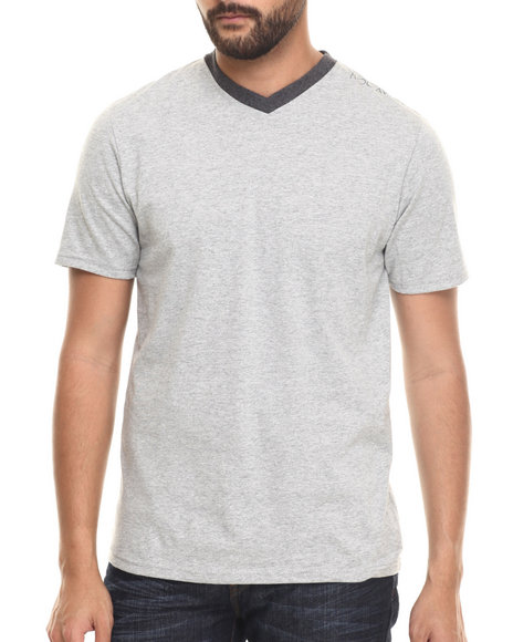 Rocawear - Men Grey Heathered V-Neck Tee