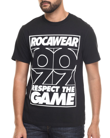 Rocawear - Men Black Respect The Game Tee - $12.99