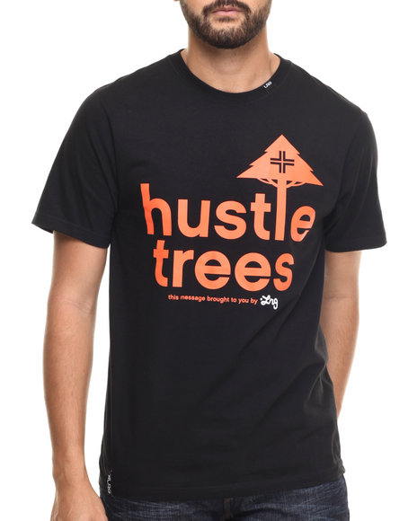 Lrg - Men Black Rc Hustle Trees T-Shirt