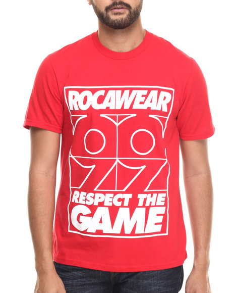 Rocawear - Men Red Respect The Game Tee