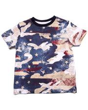 T-Shirts - CAMO AMERICANA TEE (4-7)