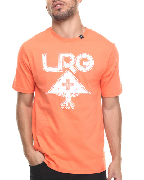 Lrg - Men Orange Palm Grove Icon T-Shirt - $20.99