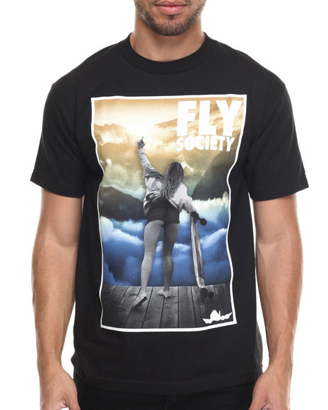 Flysociety - Men Black The Horizon T-Shirt