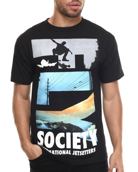 Flysociety - Men Black The Air Up There T-Shirt