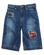 Shorts - RIP N' REPAIR AMERICANA DENIM SHORTS (8-20)