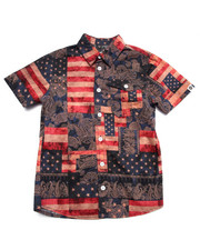 Button-downs - AMERICANA S/S PRINTED WOVEN (8-20)
