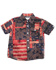 Black Friday Shop - Boys - AMERICANA S/S PRINTED WOVEN (4-7)