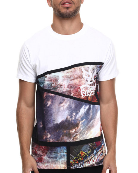 Flysociety - Men White The Strip T-Shirt