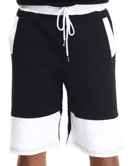 Ur-ID 217398 Waimea - Men Black Diamond Quilted Drop Crotch Short