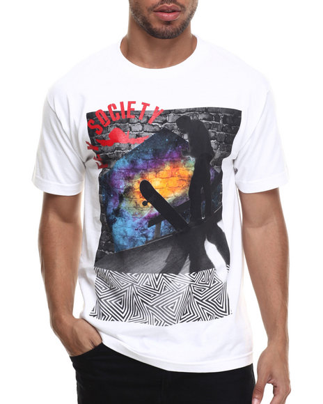 Flysociety - Men White Another Dimension T-Shirt