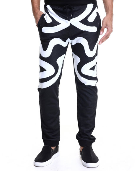 Waimea - Men Black Abstract Jogger Pant