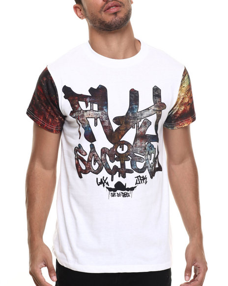 Flysociety - Men White Off The Wall T-Shirt