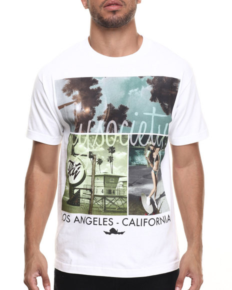 Ur-ID 217411 Flysociety - Men White Retro Fly T-Shirt