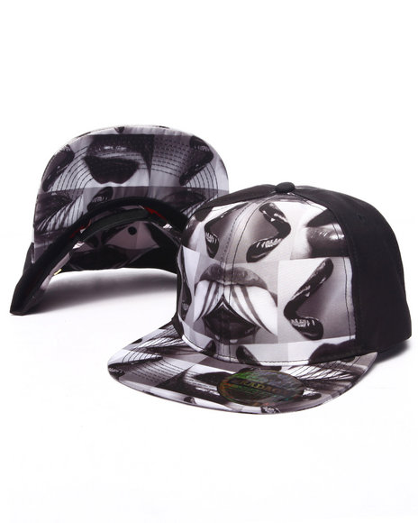 Buyers Picks Men Pradagy Hot Lips Snapback Hat Black