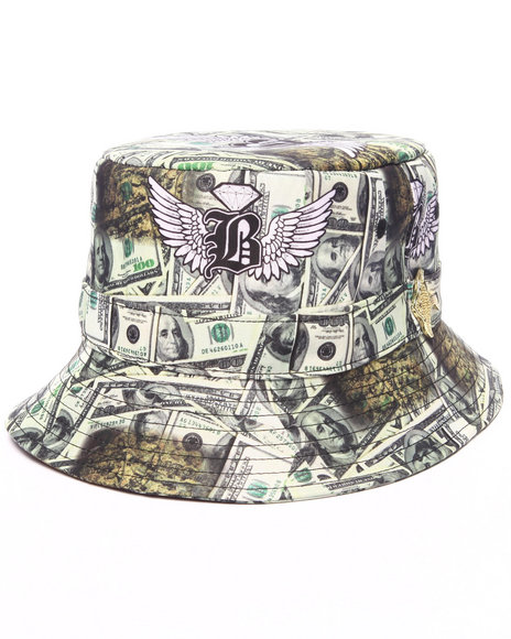 Buyers Picks Men Pradagy Drug Money Bucket Hat Green