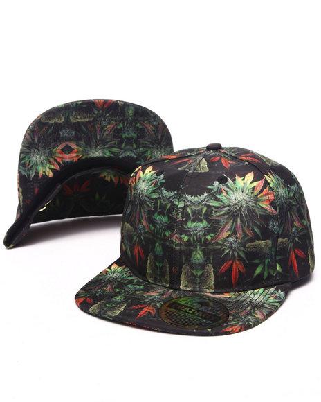 Ur-ID 223185 Buyers Picks - Men Black Pradagy Weed & Buds Snapback Hat