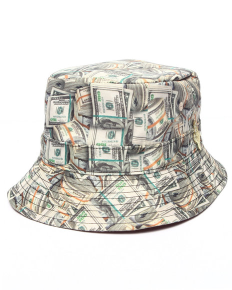 Buyers Picks Men Pradagy Money Stacks Bucket Hat Green
