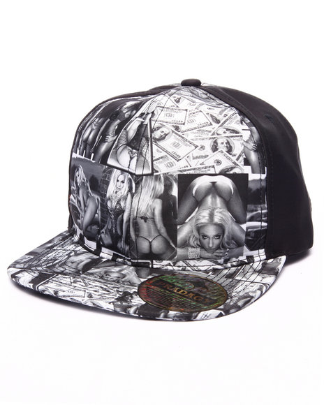 Buyers Picks Men Pradagy Hot Chicks Snapback Hat Black