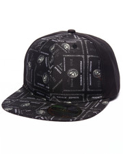 Men - Pradagy Black Card Snapback Hat