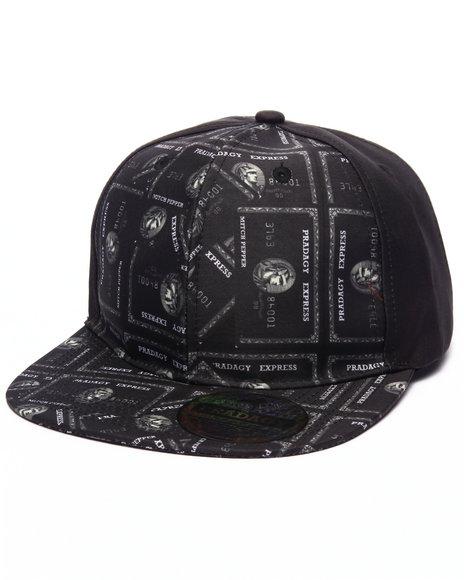 Ur-ID 223188 Buyers Picks - Men Black Pradagy Black Card Snapback Hat