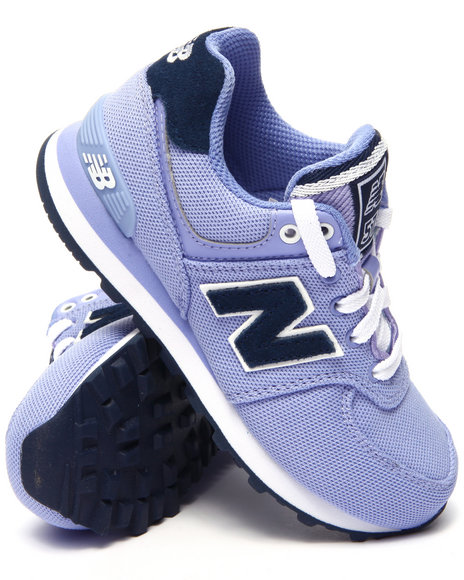 New Balance - Girls Purple 574 Pique Polo Sneakers (11-3)