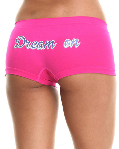 Drj Lingerie Shoppe - Women Charcoal,Black,Pink Dream On Solid 3Pk Seamless Short Set - $4.99