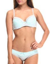 Sets - Lace Dot Bra Bikini Set