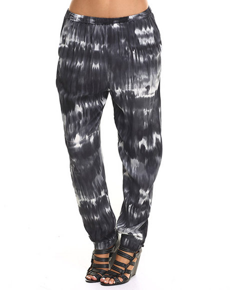 Ur-ID 217457 Vertigo - Women Black,Blue,Grey Caribbean Tide  Print Soft  Pant