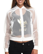 Women - MESH BOMBER JACKET