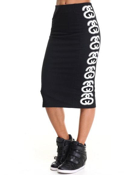 Ur-ID 217448 Stussy - Women Black Stripe Link Tube Skirt