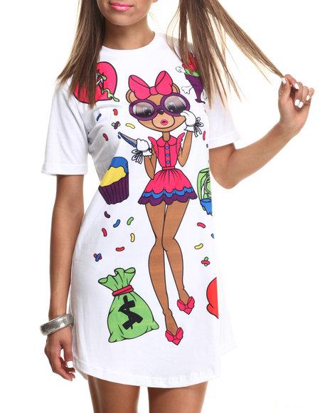 Cupcake Mafia - Women Multi Bear Essentials T Shirt Dress