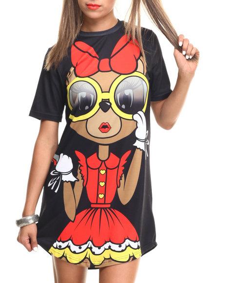 Cupcake Mafia - Women Multi Nothing To Fear T Shirt Dress