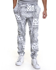 Basic Essentials - Bandana - Print Twill Jogger Pants