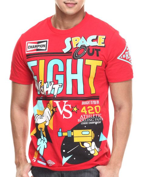 Ur-ID 217472 Rolling Paper - Men Red Fight Night T-Shirt
