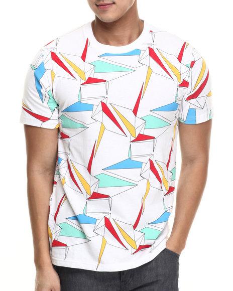 Ur-ID 217478 Rolling Paper - Men White Oragami T-Shirt