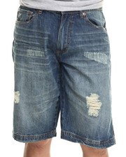 Men - Duane Rip & Repair Washed Denim Shorts