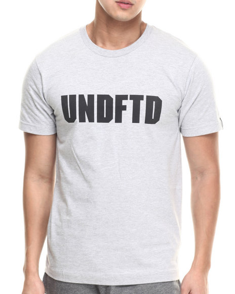 Undftd - Men Grey Undftd Block Tee