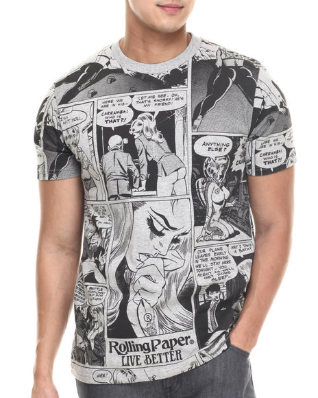 Ur-ID 217493 Rolling Paper - Men Grey Hentati T-Shirt