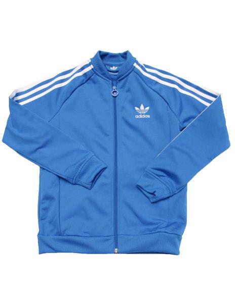 adidas blue track jacket